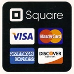 Credit cards processed with Square